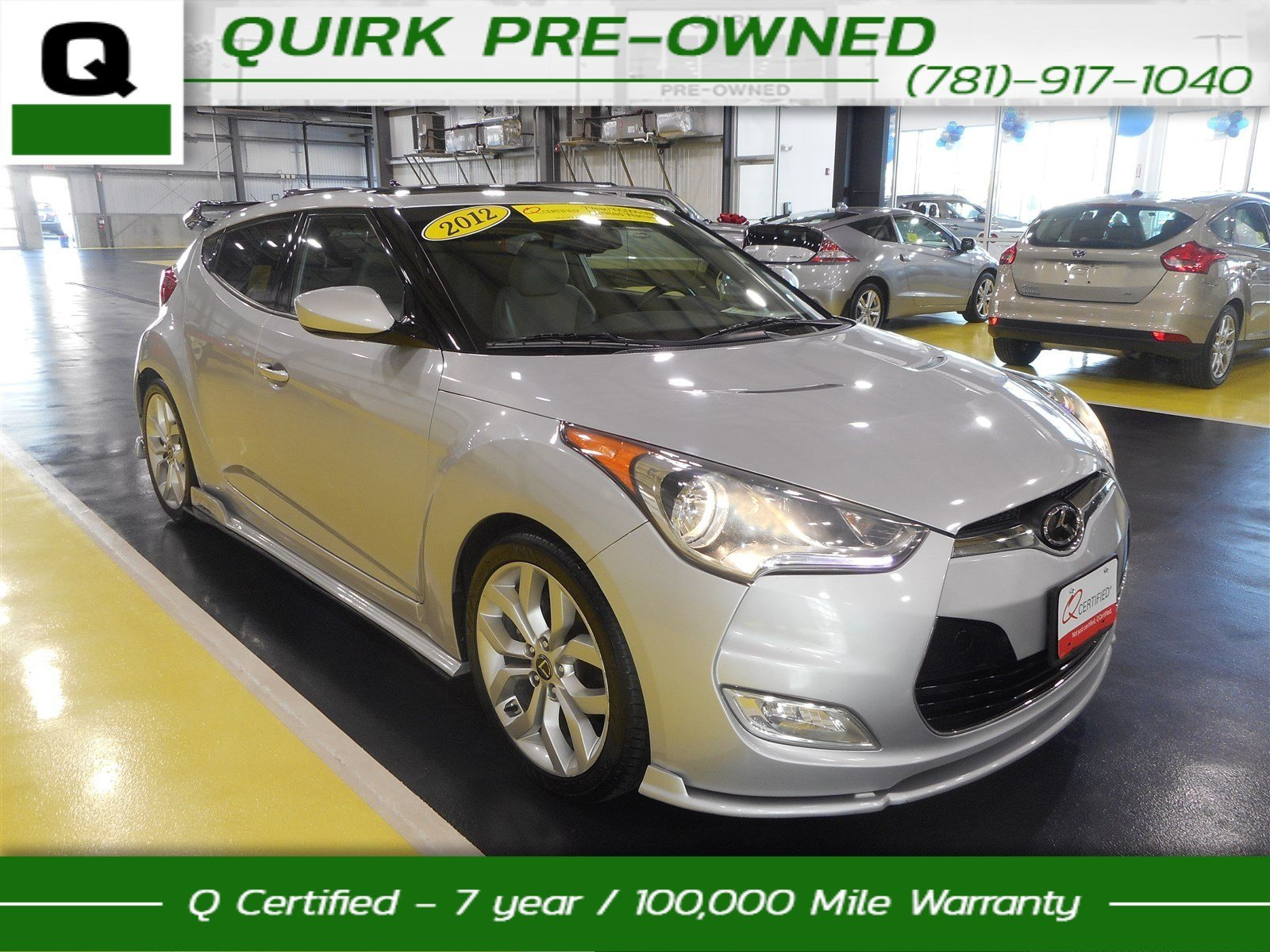 Certified Pre-Owned 2012 Hyundai Veloster w/Black Int